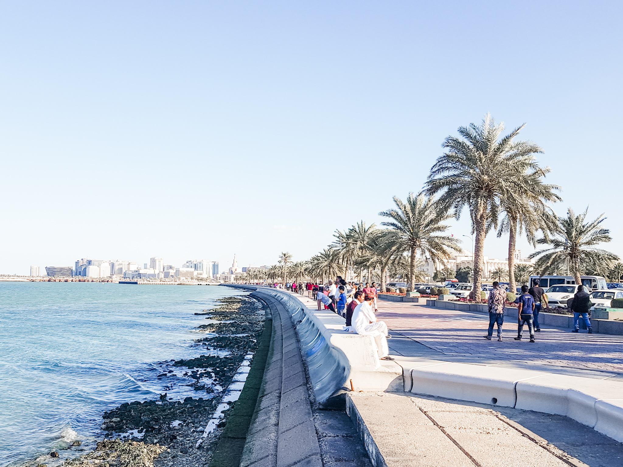 Finding a job in Qatar.