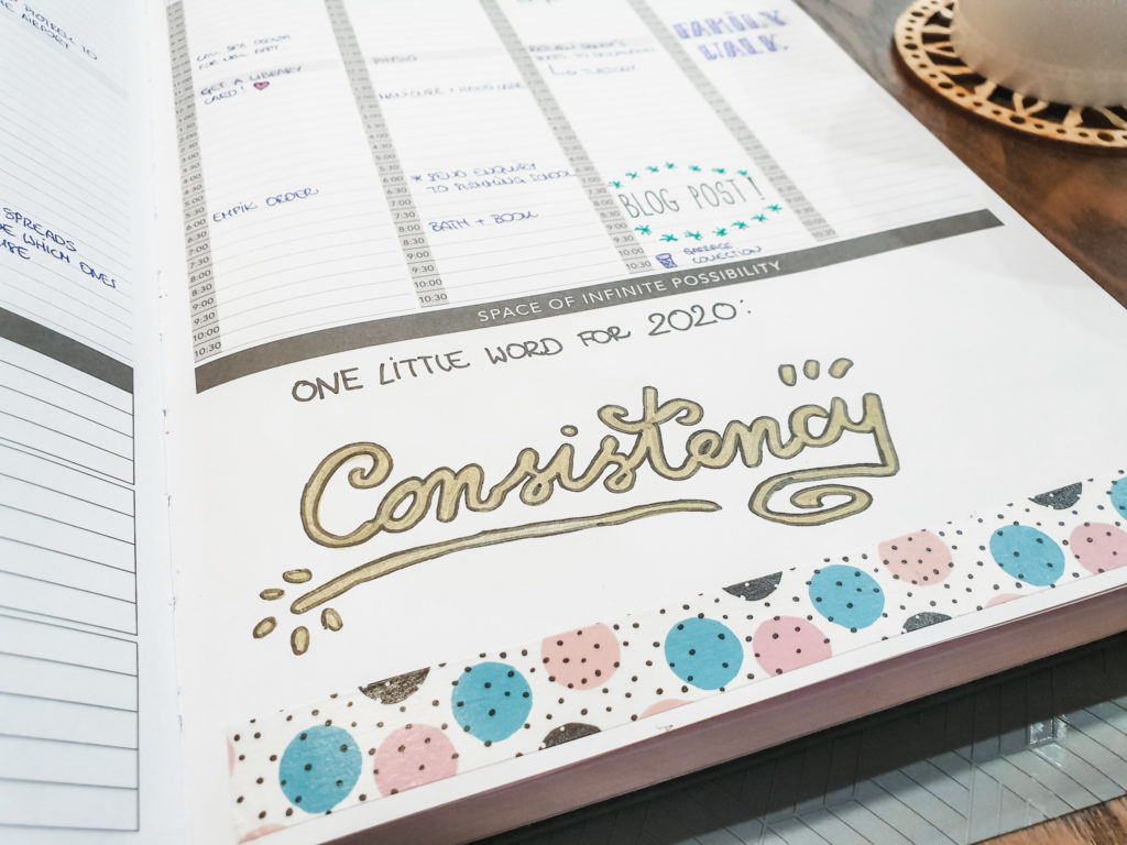 one little word 2020 passion planner