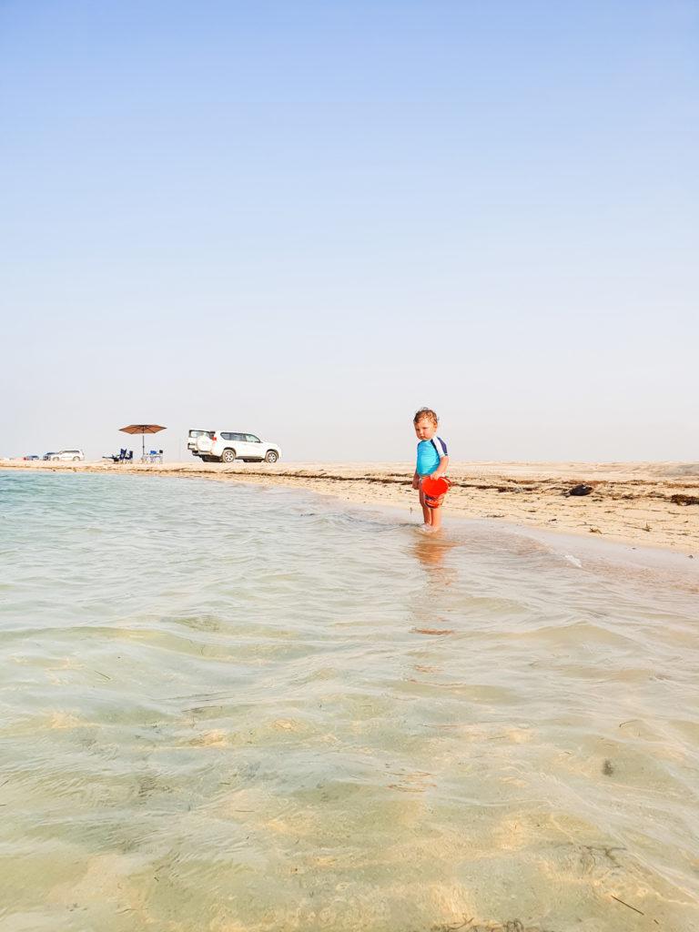 al mafjar beach, old ruins beach