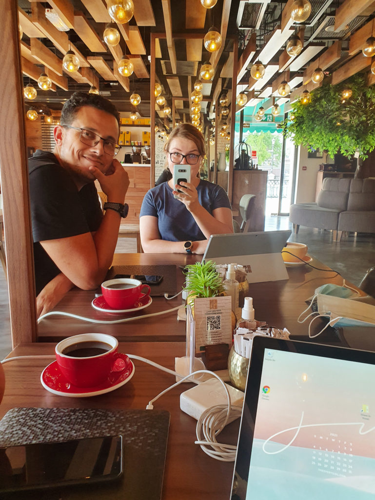 cafe to work remotely in The Pearl, Biblio